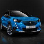Peugeot e-2008 2020 3/4 avant