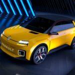 Renault 5 2021 100% électrique vue 3/4